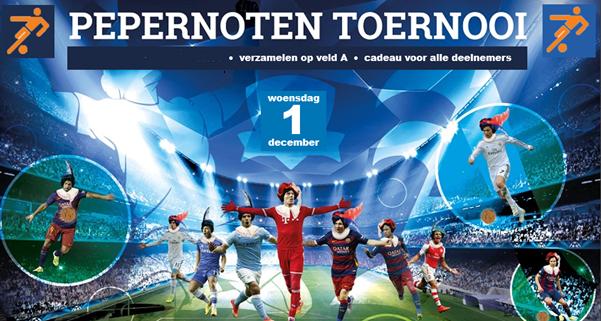 Pepernotentoernooi 1 december, Sinterklaas komt naar Beek Vooruit!