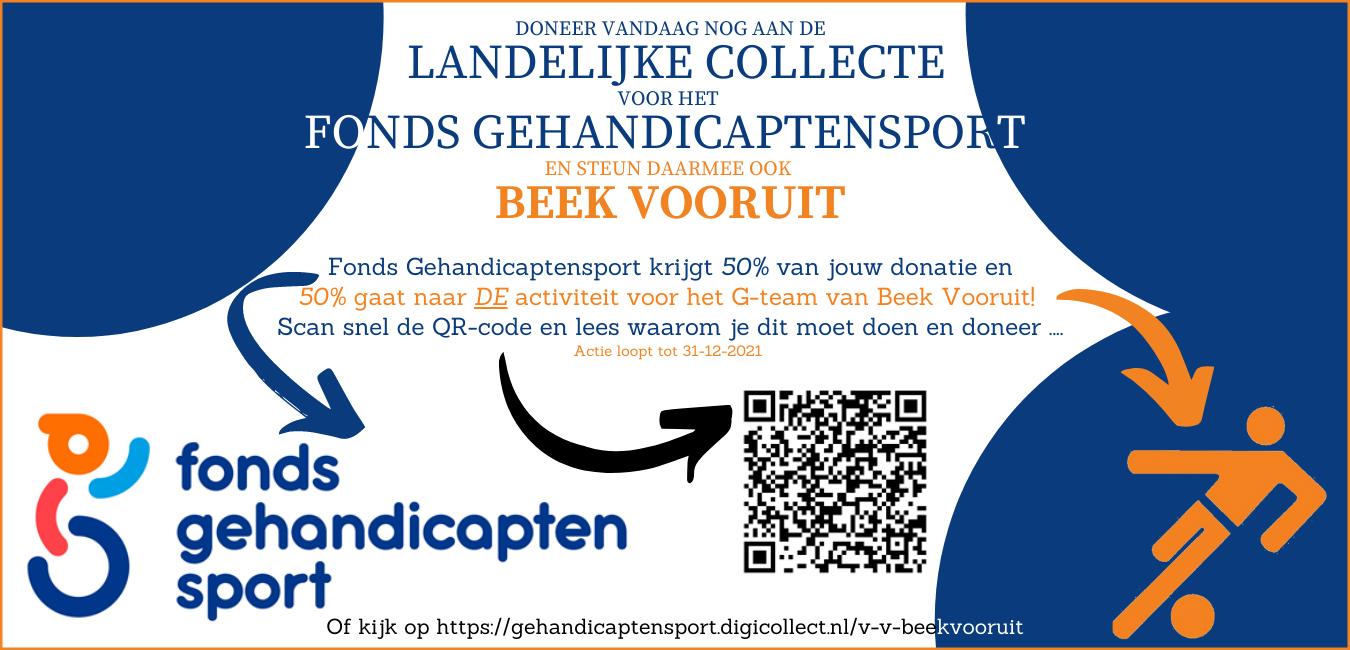 Collecte fonds gehandicaptensport ook voor Beek Vooruit!